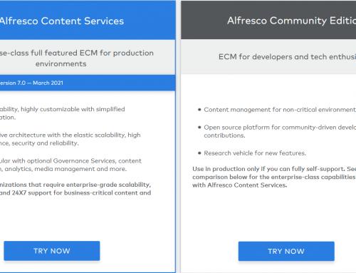 Alfresco社区版与企业版的区别